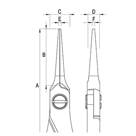Ergo-tek Pliers - Needle Nose diagram